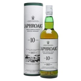 LAPHROAIG LAPHROAIG 10 YEAR SINGLE MALT SCOTCH 750 mL