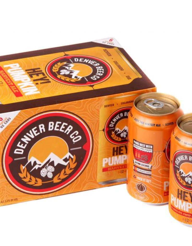 Denver Beer Hey Pumpkin Harvest Ale 12oz 6 Pack