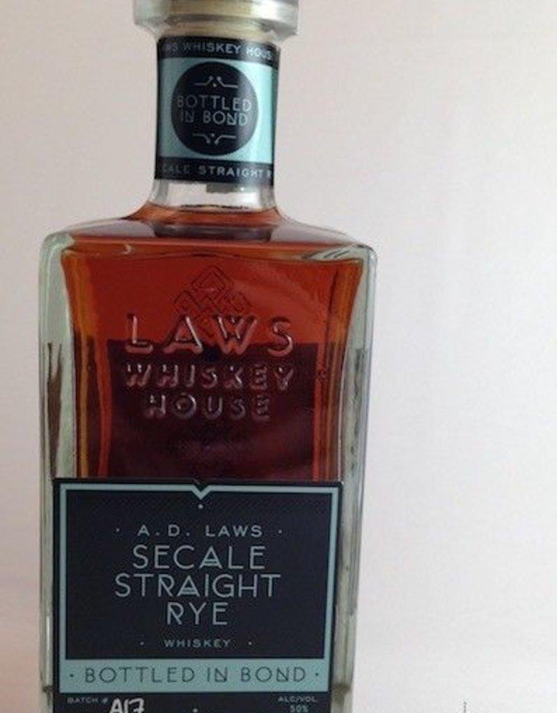 Laws Bottled In Bond Secale Straight Rye Whiskey 750mL