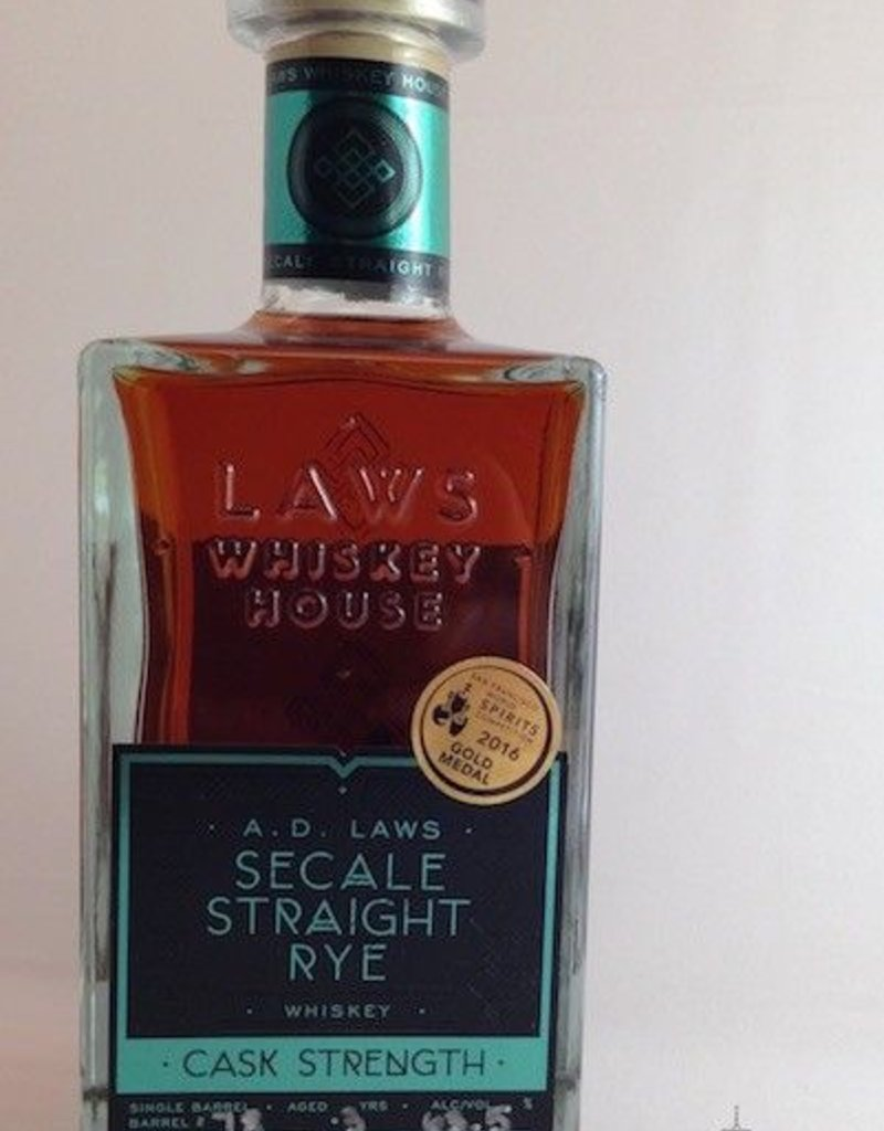 Laws Cask Strength Secale Straight Rye Whiskey 750mL