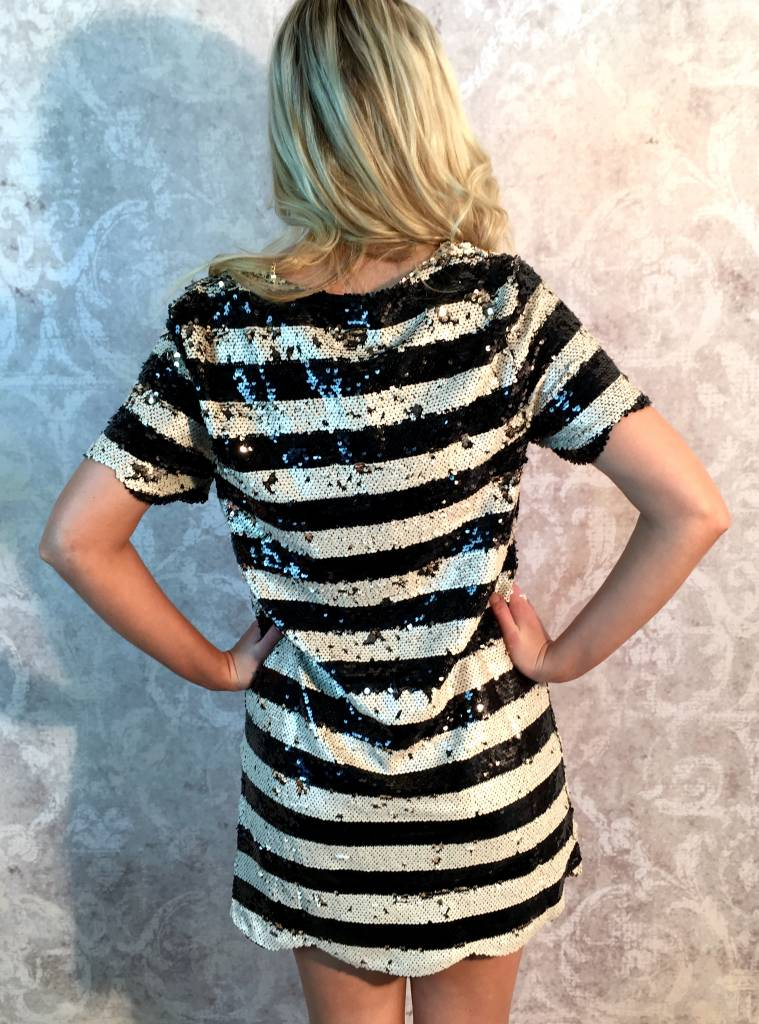 Black and White Sequin Dress- SALE ITEM