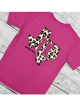 Rasberry Leopard TX T-Shirt