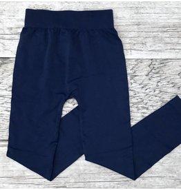 Navy Seamless Capri Leggings