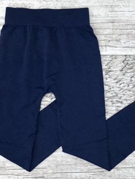 Navy Seamless Capri Leggings
