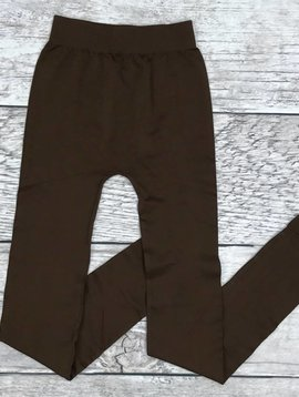 Brown Seamless Long Leggings