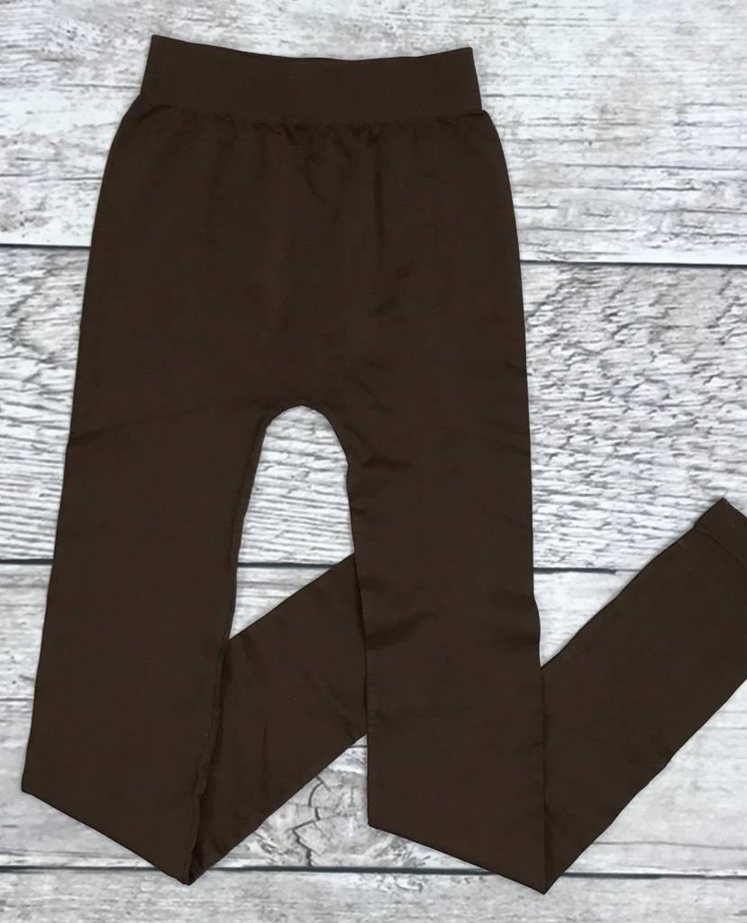 Brown Seamless Long Leggings
