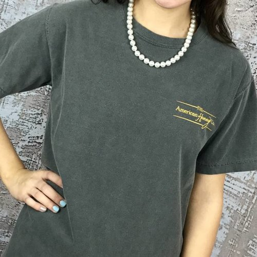 Charcoal American Honey T-Shirt Aztec Back- SALE ITEM