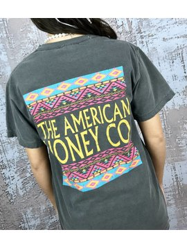 Charcoal American Honey T-Shirt Aztec Back