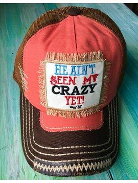 Brown/Orange He Aint Met My Crazy Yet Trucker Hat