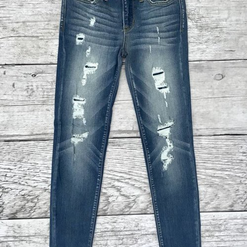Judy Blue Patched / Distress Skinny Jeans