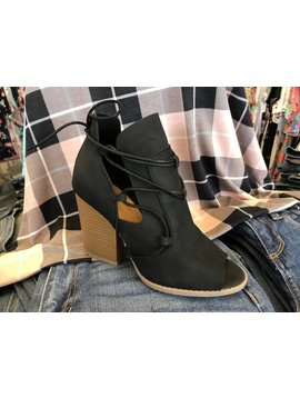 Black Lace Up Heel- SALE ITEM