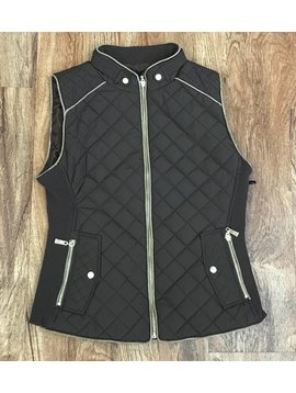 Brown Quilted Padded Vest