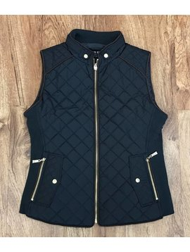 Black Quilted Padded Vest