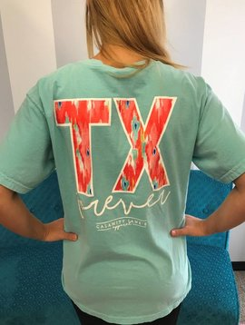 Light Teal / Coral TX Forever T-Shirt
