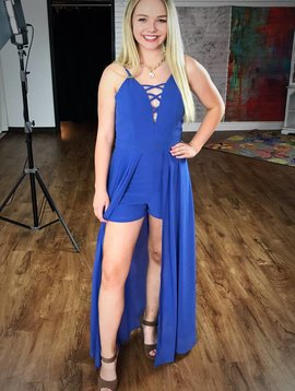All Yours Maxi Romper Royal Blue-SALE ITEM