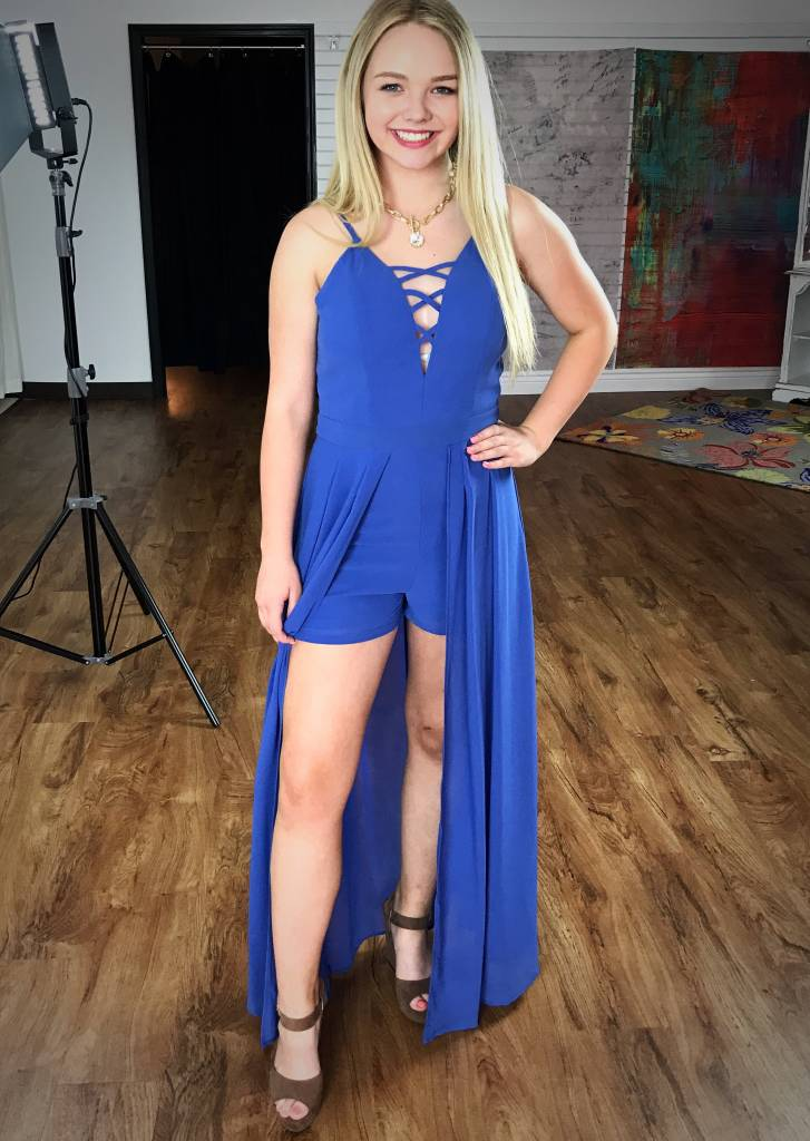 All Yours Maxi Romper Royal Blue