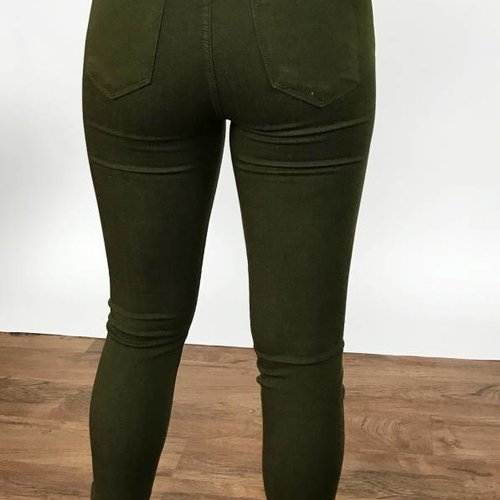JB Olive Skinny Jeans