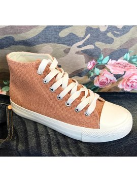 Blush Crochet Canvas Shoes