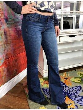 Denim Mid Rise Bell Bottom Jeans