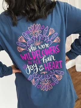 Midnight Joy in Her Heart LS Shirt