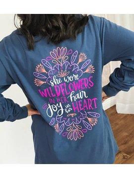 Midnight Joy in Her Heart LS Shirt