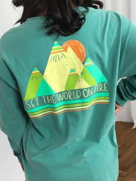 Seafoam Set the World on Fire LS Shirt