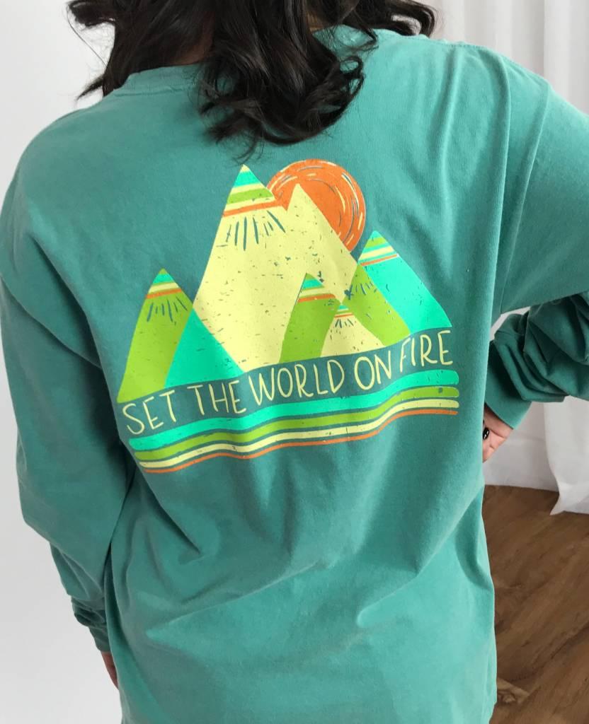 Seafoam Set the World on Fire LS Shirt