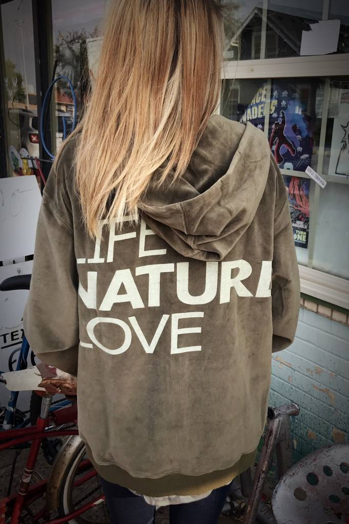 Olive Velvet Life,Nature,Love Jacket