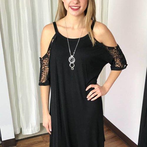 Black Lace Off Shoulder Dress