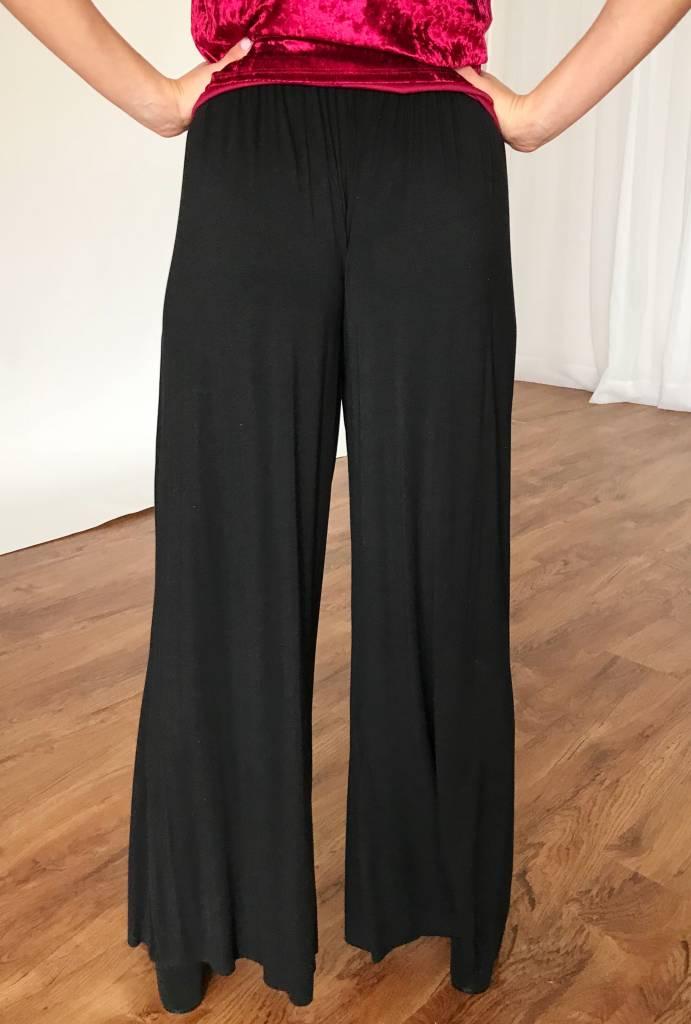 Black Free-Flowing Pants