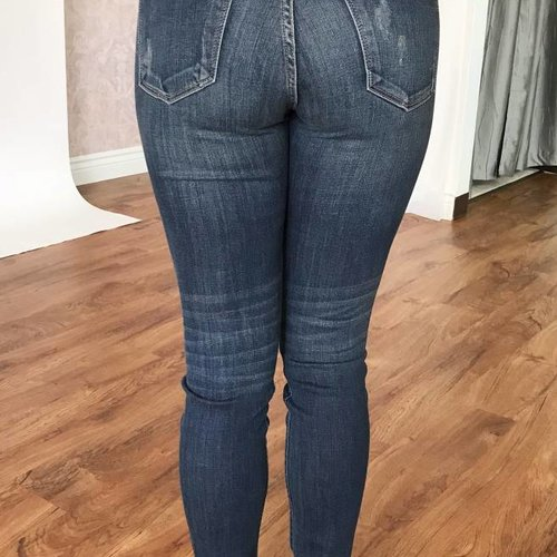 Judy Blue Dark Wash Flip Patch Skinny Jean