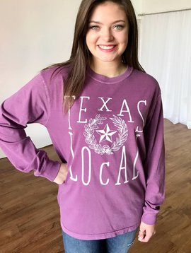 Purple Texas Local Tee