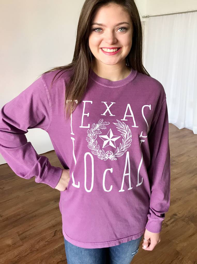 Purple Texas Local Tee