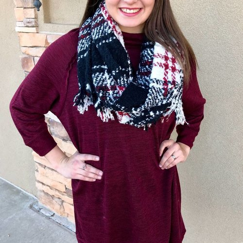 Burgundy Comfy Sweater Dress