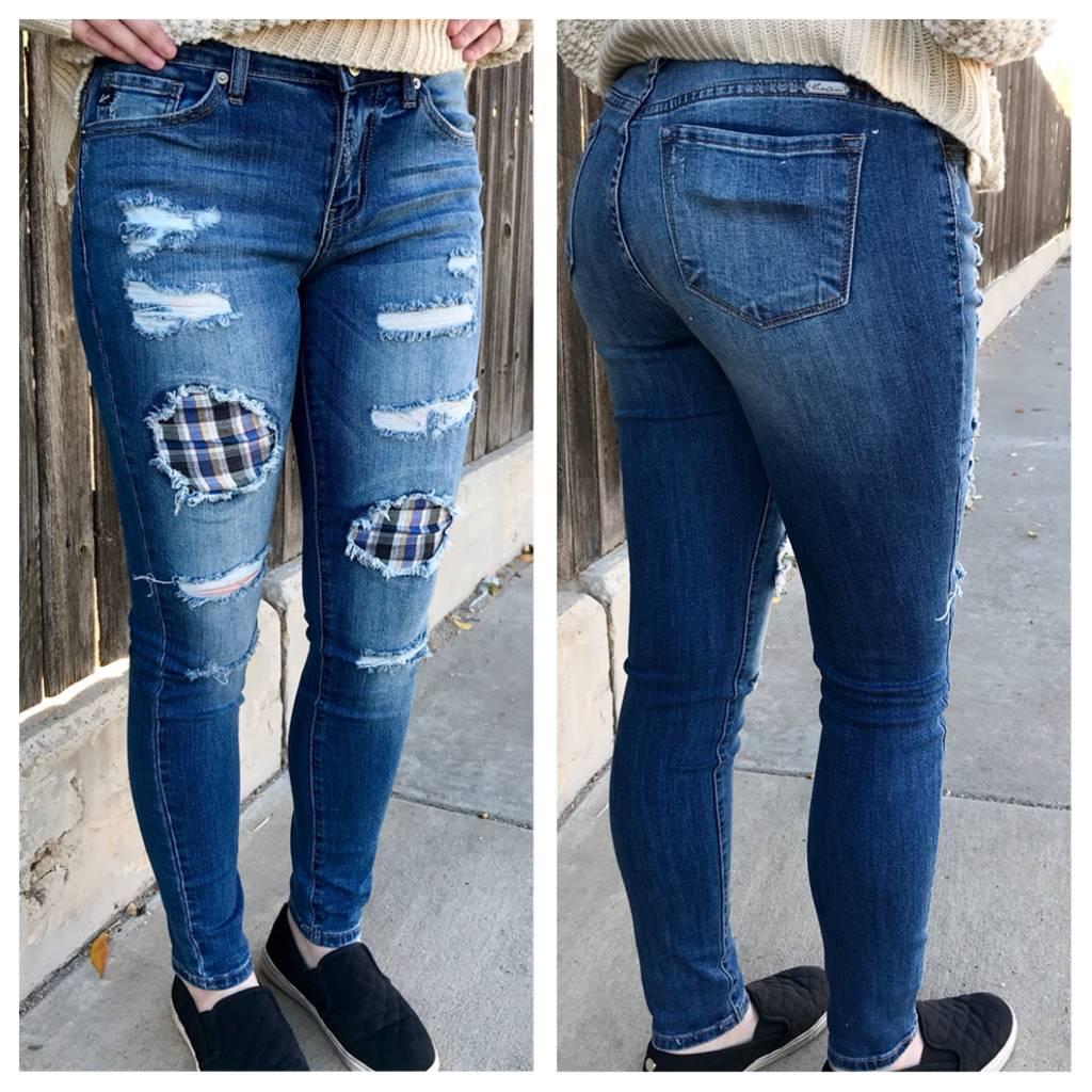 KanCan Distressed Denim Skinny Jeans- SALE ITEM