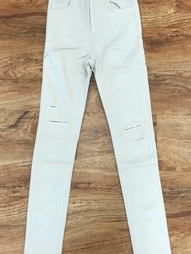 Tan Minor Distressed Skinny Jeans