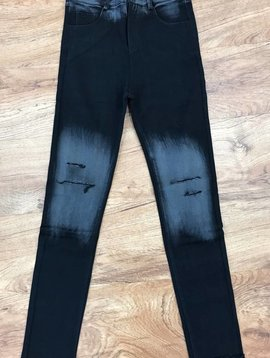 Black Minor Distressed Skinny Jeans