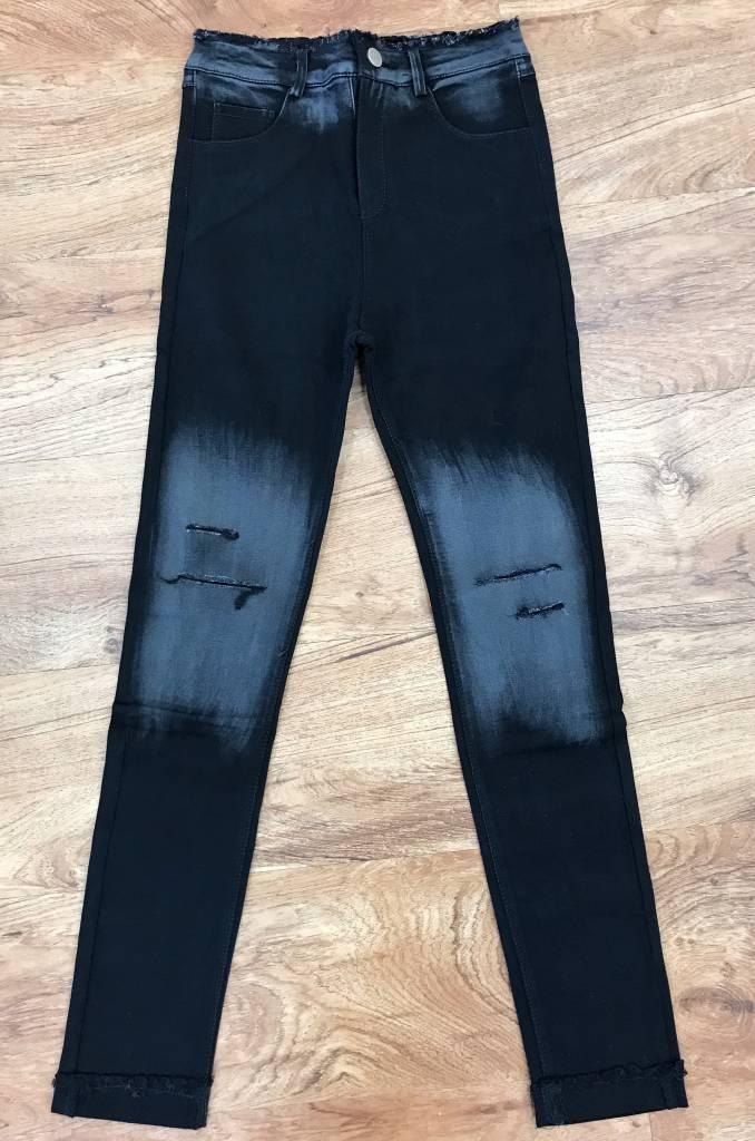 Black Minor Distressed Skinny Jeans
