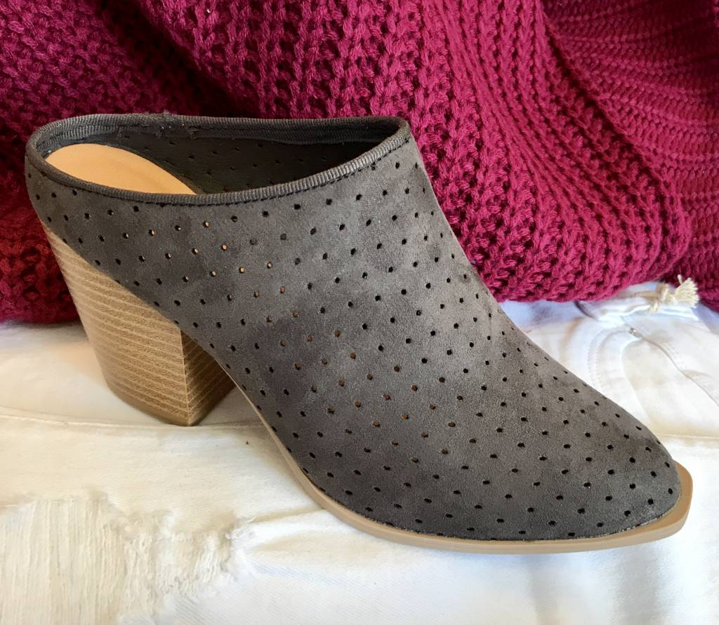Charcoal Mule Bootie