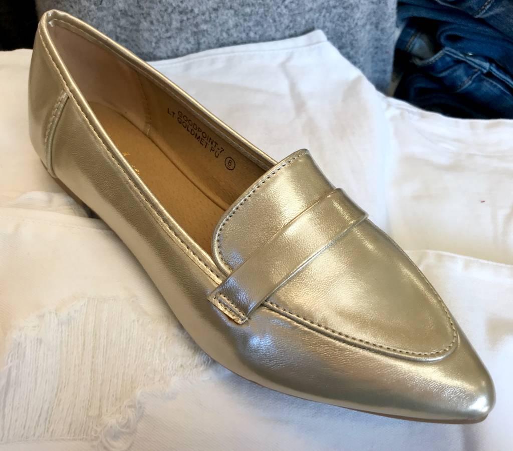 Light Gold Loafer Flats- SALE ITEM