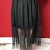 Black Dot Mesh Knee Length Skirt- SALE ITEM