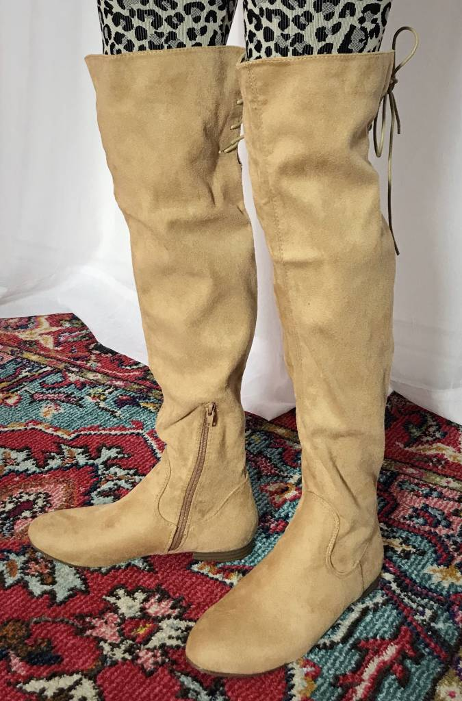 Nude Special Purchase Flat Boot Over The Knee Boot- SPECIAL PURCHASE