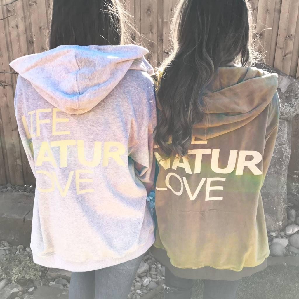 Grey Velvet Life,Nature,Love Jacket- SALE ITEM