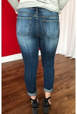 Destroyed Dark Skinny Jeans