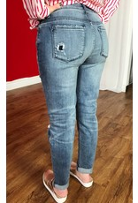 Kan Can Medium Wash and Distressed Ankle Jean