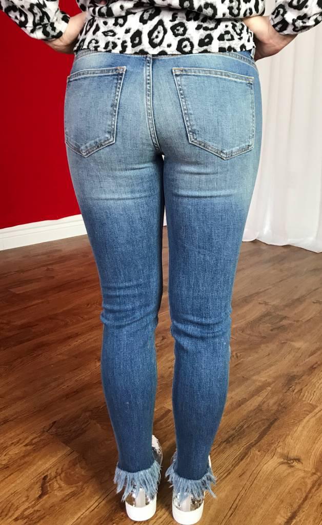 Light Semi-Distressed Skinny Jeans