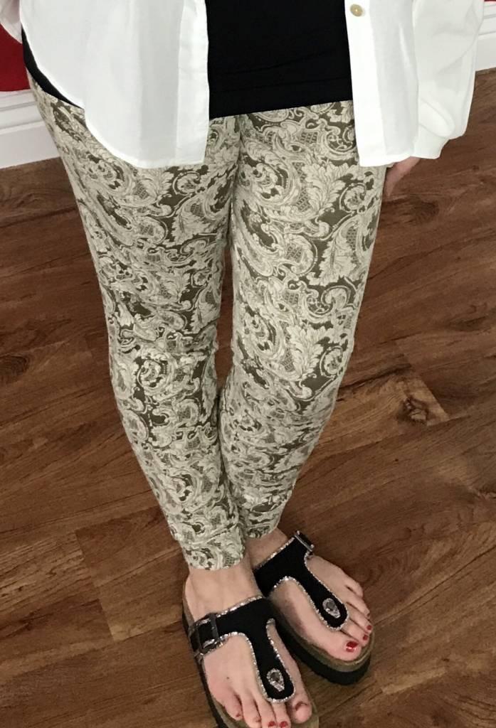 Coffee Colored Print Pants