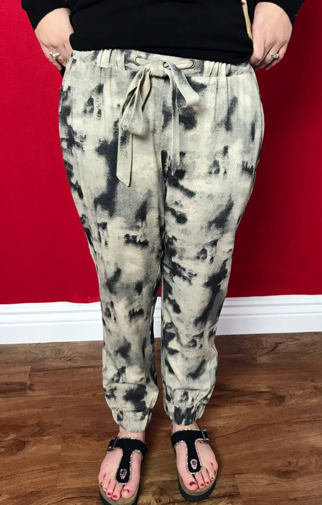 Ashy Pull String Pants with Pockets