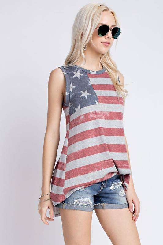 Lillie's Faded American Tank Top