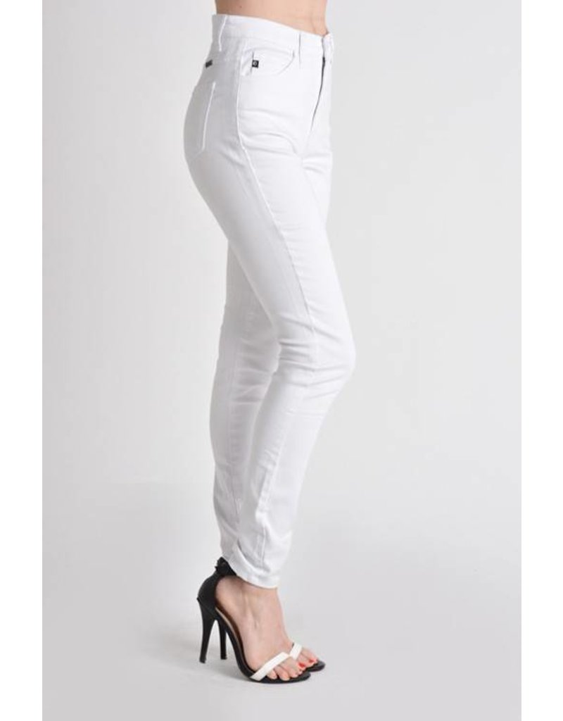 Kan Can High Rise White Skinny Jean